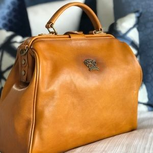 Pratesi Firenze Leather Top Handle Weekend Bag